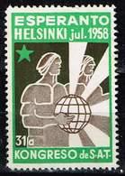 Esperanto- Kongress 1958 In Helsinki, Michel#  (*) - Timbres