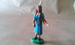FIGURINE INDIENNE Squaw Avec Enfant Dans Le Dos CLAIRET - Army
