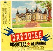 BUVARD(BISCOTTE GREGOIR) LEVALLOIS PERRET(CHAUMONT SUR LOIRE) - Biscottes