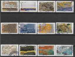 2018 FRANCE Adhésif 1502-13 Oblitérés, Cachet Rond, Trésors De La Nature, Série Complète - Adhesive Stamps