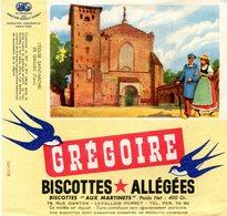BUVARD(BISCOTTE GREGOIR) LEVALLOIS PERRET(GAILLAC) - Biscottes