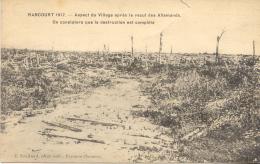 CPA - RANCOURT - ASPECT DU VILLAGE APRES LE RECUL DES ALLEMANDS (1917) TRES RARE - France