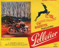 BUVARD(BISCOTTE PELLETIER) ROMAINVILLE(MOTOCYCLETTE) - Biscotti