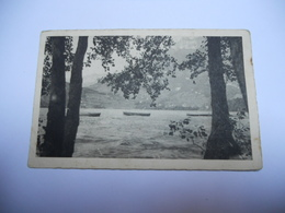 74 HAUTE SAVOIE CARTE ANCIENNE EN N/BL DE 1947 LAC D'ANNECY TALLOIRES VU DE DUINGT EDIT MAYOUX N°12232 - Talloires
