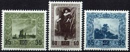 Liechtenstein 1954: Gemäldeserie V (Provisorien) Zu 270-272 Mi 326-328 Yv 288-290 * Falzspur MLH (Zu CHF 40.00 -50%) - Liechtenstein