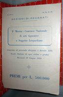 PRIMA MOSTRA CONCORSO NAZIONALE DI ARTI FIGURATIVE  1959 - Vecchi Documenti