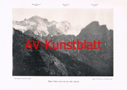142-5 Monte Cinto Ascotal Panorama Autotypie 1903!! - Zonder Classificatie