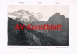 142-5 Monte Cinto Ascotal Panorama Autotypie 1903!! - Ohne Zuordnung