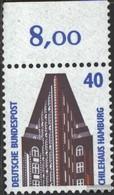 BRD (BR.Deutschland) 1379 Pezzo Upper Edge MNH 1988 Sehenswïürdigkeiten - BRD