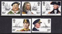 GREAT BRITAIN GB - 1982 MARITIME HERITAGE SET (5V) FINE MNH ** SG 1187-1191 - 1952-.... (Elizabeth II)
