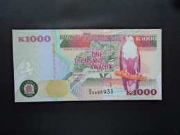 ZAMBIE : 1000 KWACHA  1992   P 40a     SUP+ - Zambie