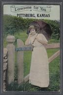 Carte Postale Etats-Unis Pittsburg  Lonesome For You Femme Au Parapluie Très Beau Plan - Etats-Unis