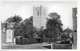 REAL PHOTO -  WEST WICKHAM - CHURCH OF ST ASSISSI - (STREET SCENE) - B4 - England