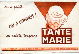 BUVARD(PATE ALIMENTAIRE) TANTE MARIE - Carte Assorbenti