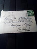 Jolie Mignonette  ,aff Iris 1 FR Vert 10/6/1940 Paris XVII - Marcophilie (Timbres Détachés)