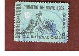 CUBA -   SG  1025   -  1962   LABOUR DAY    - USED - Usati