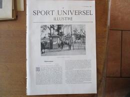 LE SPORT UNIVERSEL ILLUSTRE 3 DECEMBRE 1898 FERME HIPPIQUE MILITAIRE CAMP DE CHALONS,CHEVAL DE CAVALERIE,HARAS DE DANGU, - Livres, BD, Revues