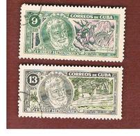 CUBA -   SG  1096.1097   -  1963  ERNEST HEMINGWAY    - USED - Usati
