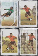 Sambia 360-363 (complete.issue.) Unmounted Mint / Never Hinged 1986 Football WM Mexico - Zambia (1965-...)