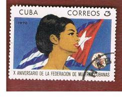 CUBA -   SG  1784   -  1970 CUBAN WOMEN'S FEDERATION   - USED - Usati