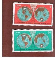 CUBA -   SG  1849.1850   -  1971 CUBAN INTERNATIONAL BROADCASTING (COMPLET SET OF 2)  - USED - Usati