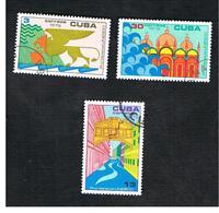 CUBA -   SG  1985.1887   -  1972 UNESCO: SAVE VENICE (COMPLET SET OF 3)  - USED - Usati