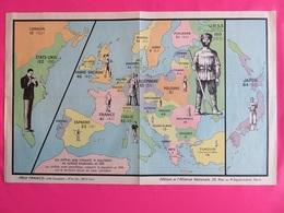 131 - Evolution Démographique Europe & Japon De 1906 à 1931 -  Ed. De L'Alliance Nationale - Geographical Maps