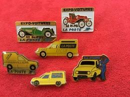 Lot De 6 Pin's Vehicules De La La Poste - Renault