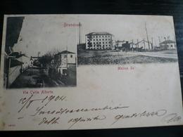 Brandizzo TorinoVia Carlo Alberto E Molino RE Usata 1904 - Italy