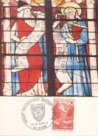 FRANCE ENVELOPPE DU 24 - 25 AVRIL 1971 RIOM GROUPEMENT PHILATELIQUE MASSIF CENTRAL - Storia Postale
