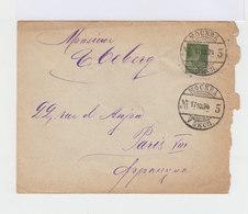 Sur Enveloppe Pour Paris Timbre 20 K. Vert Foncé. CAD Mockba 1924. (678) - Machine Stamps (ATM)