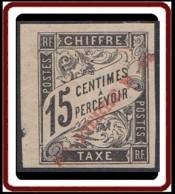 Saint-Pierre Et Miquelon 1859-1909 - Timbre-taxe N° 03 (YT) N° 3 (AM) Neuf *. Aminci. - Timbres-taxe