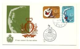 1972 - San Marino 865/66 Malattie Cardiache - FDC, - Malattie