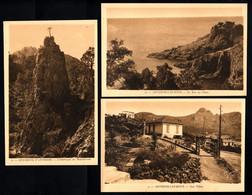 83 ANTHEOR CAP ROUX  Le Roc Au Chien, Les Villas, L'Obélisque De Malinfernet  (3 Cartes) - Antheor