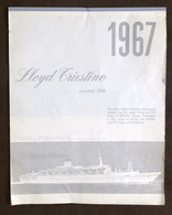 Collezionismo Calendario LLOYD Triestino 1967 - Calendari
