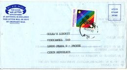 Singapore Aerogramme Sent To Czechoslovakia 24-9-1993 - Singapore (1959-...)