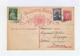 Trois Timbres Oblitérés 1934 Sur Bilhete Postale.(680) - Marcophilie