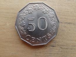 Malte  50  Cents  1972  Km 12 - Malte
