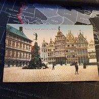 Antwerpen - Anvers - La Grand' Place Et Le Brabo (D) - Antwerpen