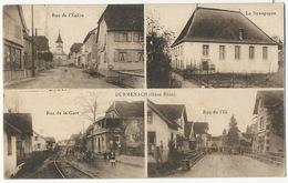 Durmenach Multi Vues  Rue De La Gare  Rue De L' Ill Synagogue Judaica Eglise Edit J. Kuntz Soultz - France