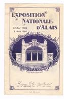 """MENU """"INAUGURATION De L'EXPOSITION NATIONALE D'ALAIS """" GRAND HOTEL C.ROUSSEL Propriétaire ALAIS"""" - Menus"""