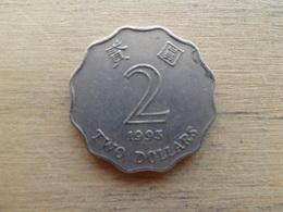 Hong Kong  2  Dollars  1993  Km 64 - Hong Kong