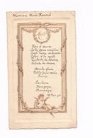 MENU Ancien Déjeuner Du 26.11.1921 - Agréable Motif - Menú