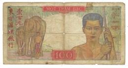 Indohine, Billet De 100 Piastres Dans L'état - Indocina