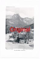 233-3 Reiter Alpe Drei Brüder Berge Kunstblatt 1910 !! - Documents Historiques