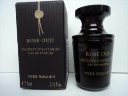 """YVES ROCHER : RARE """" ROSE OUD  """"  SECRET D'ESSENCE  MINI  EDP 5 ML    LIRE &VOIR !! - Miniatures Modernes (à Partir De 1961)"""
