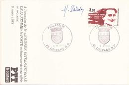 FRANCE CARTE DU 9 MARS 1983 ORLEANS HOMMAGE A LA FEMME SIGNEE PAR SAINSON - Marcophilie (Lettres)