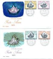 A19520)Vatikan FDC 590 - 593 - FDC