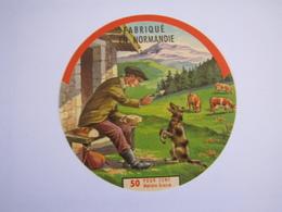 Etiquette De Fromage FABRIQUE EN NORMANDIE 50% 50-Y - Cheese