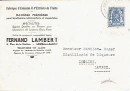 PK Publicitaire LEDE 1942 - FERNAND LAMBERT - Fabrique D'essences & D'extraits De Fruits - Lede